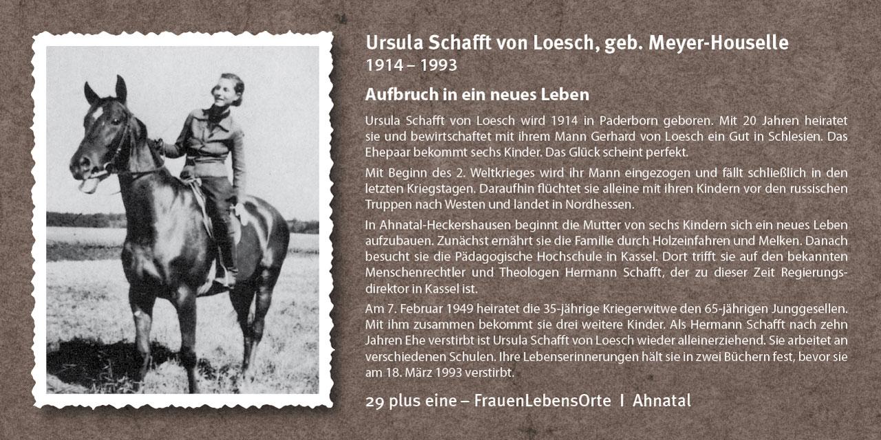 Ursula Schafft von Loesch