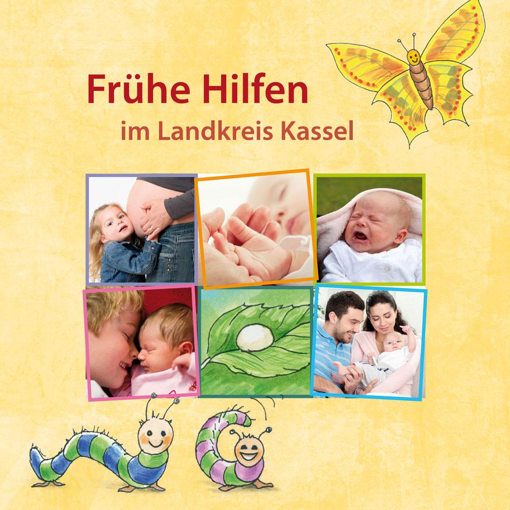 Frühe Hilfen im Landkreis Kassel (Illustrationen, Flyer, Roll-Up)