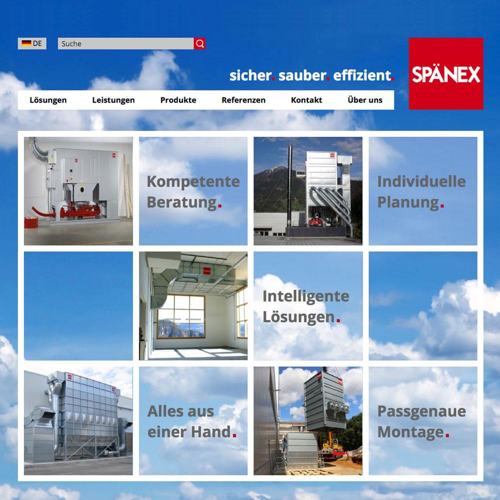 Spänex– Luft-, Energie- und Umwelttechnik (Website)