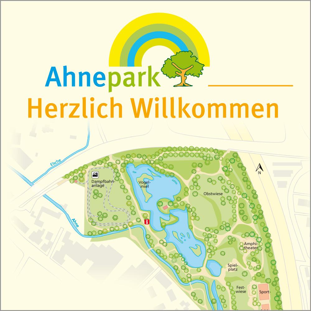 Ahnepark in Vellmar (Informationstafeln, Faltblatt)