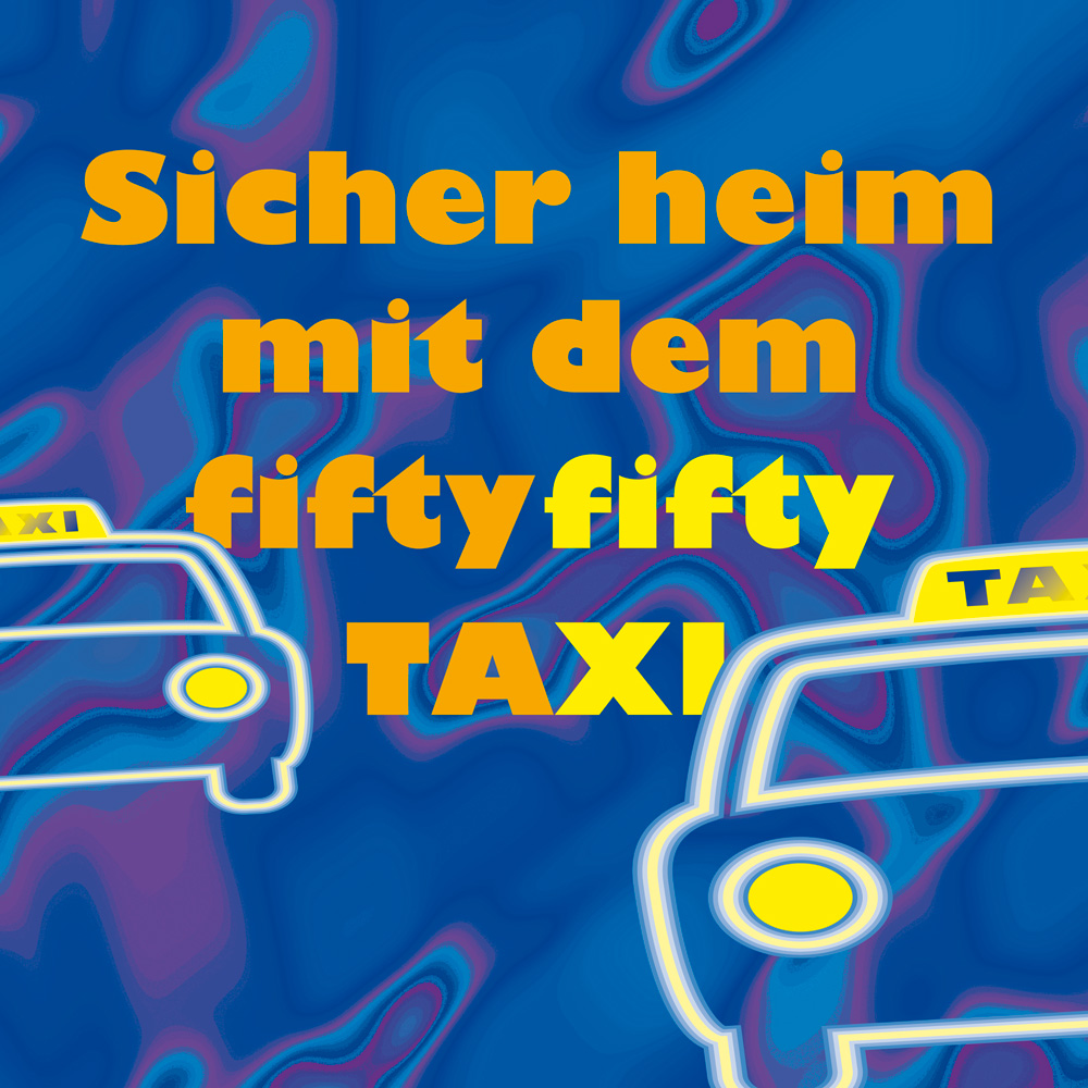 Fiftyfifty Taxi (Flyer, Ausweise etc.)