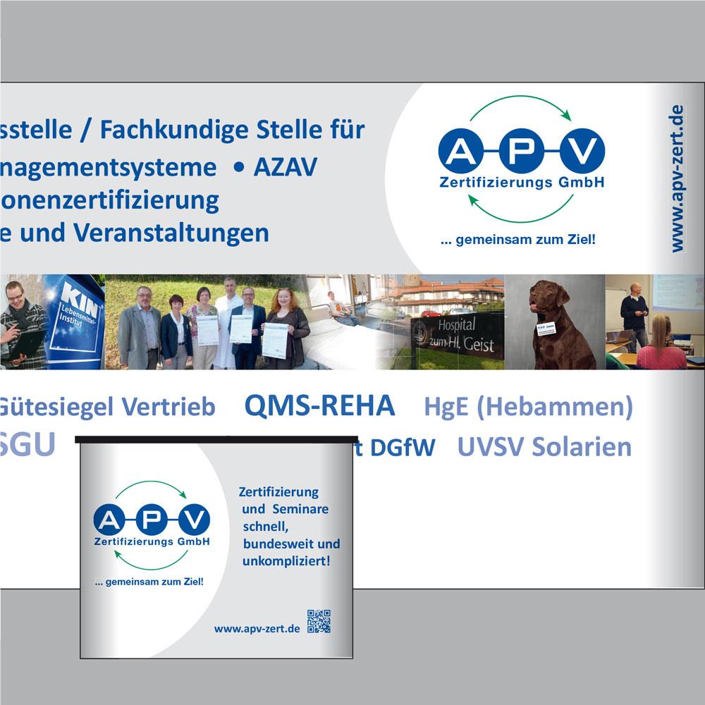 APV Zertifizierungs GmbH (Messestand, Giveaways)