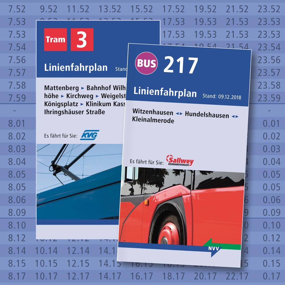 Linienfahrpläne des Nordhessischen VerkehrsVerbunds