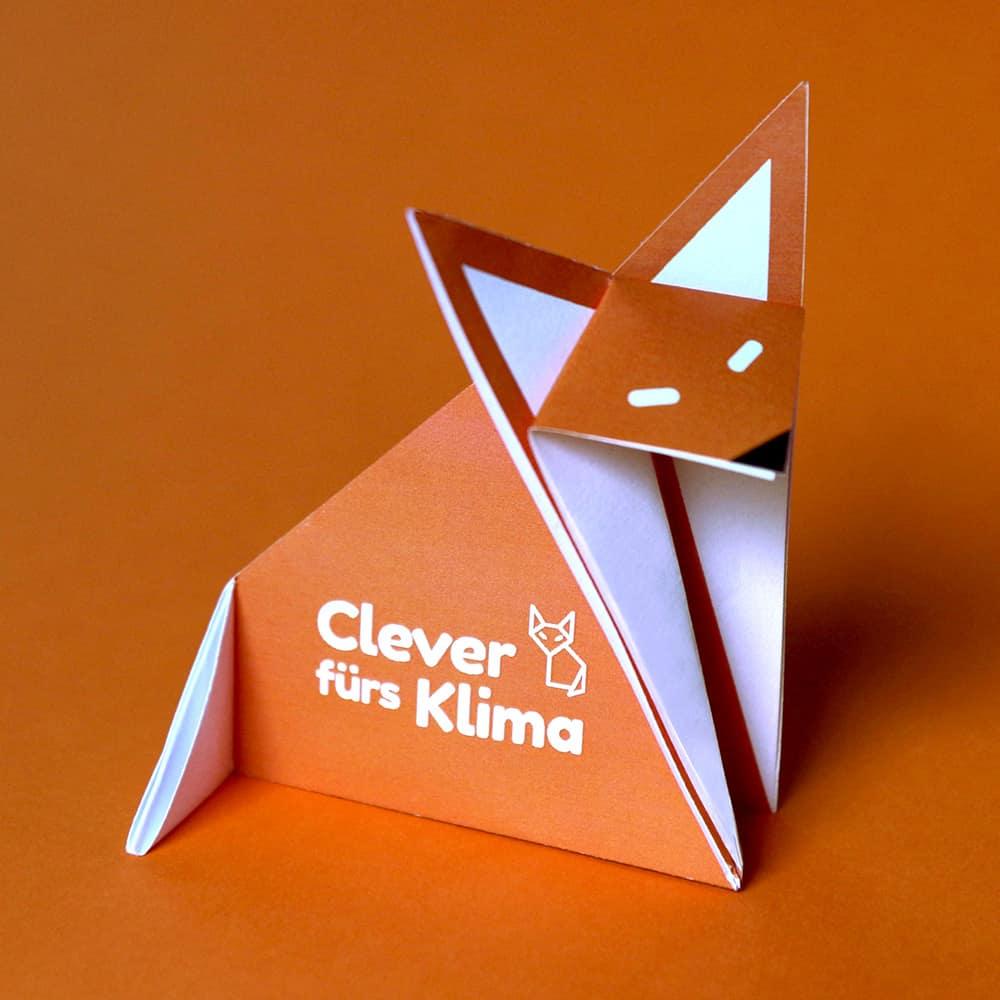 Clever fürs Klima (Logo, Anzeigen, Roll-Up, Bastelbögen)