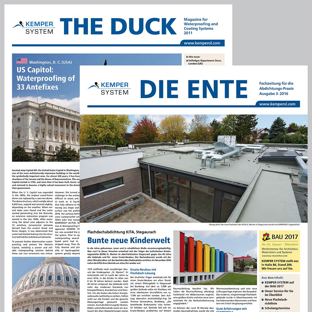 "KEMPER SYSTEM Kundenmagazin ""DIE ENTE"""