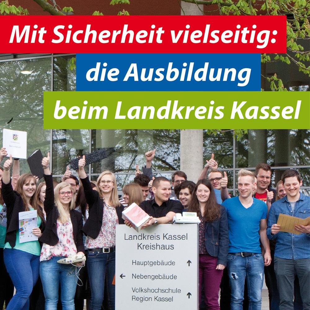 Infostand und Flyer Ausbildung im Landkreis Kassel