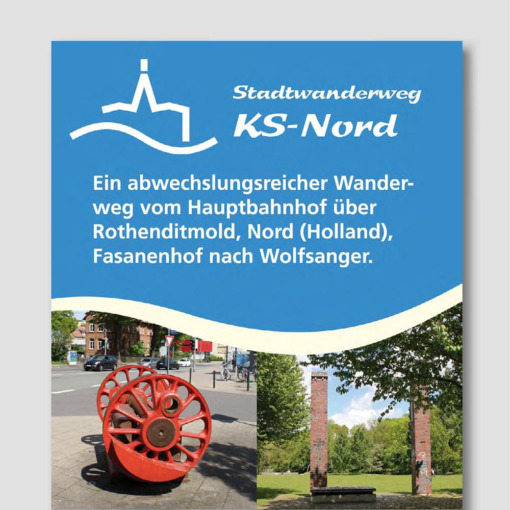Stadtwanderwege Kassel (Infotafeln, Flyer, Website)