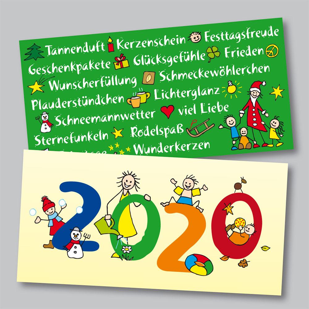 Weihnachtskarten für den Fachdienst Kindertagespflege