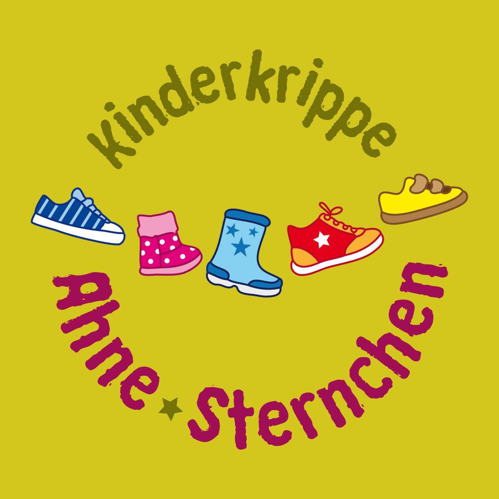 Kinderkrippe Ahne-Sternchen (Logo, Außenbeschriftung)