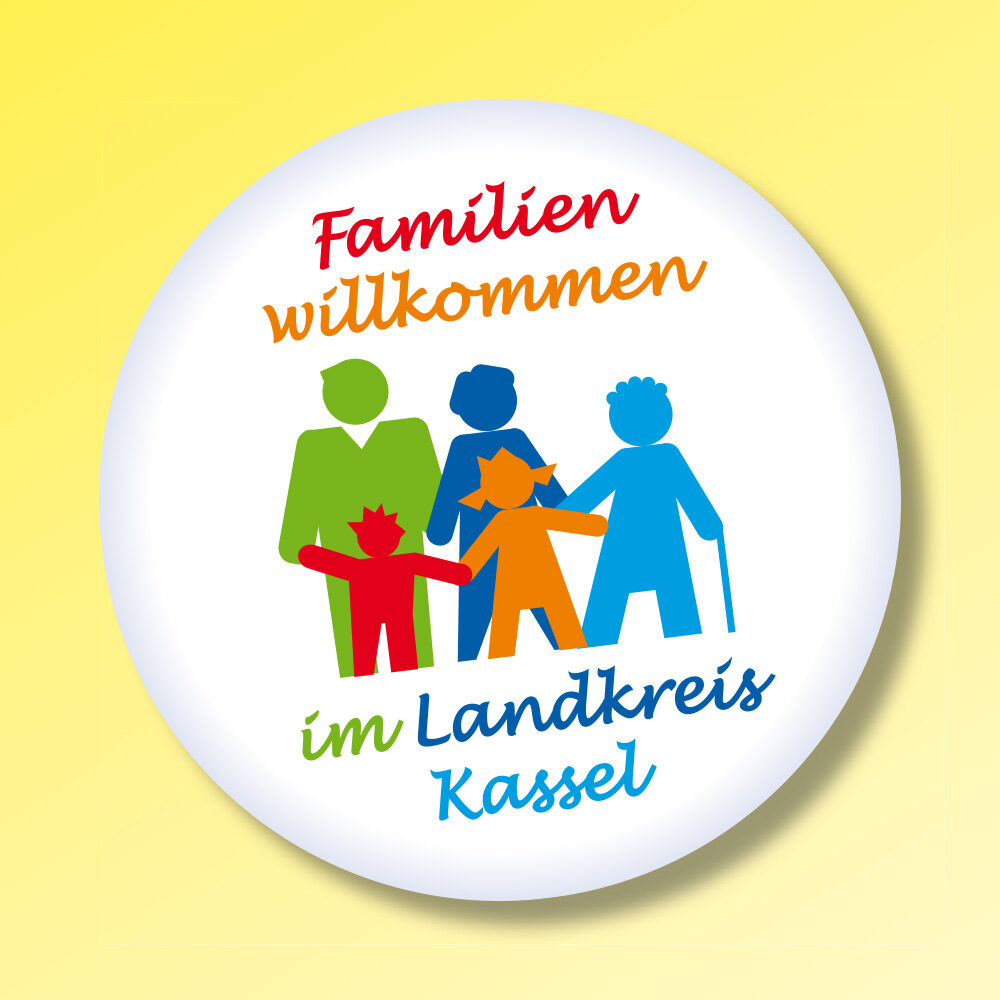 Familien willkommen und Familienfeste im Landkreis Kassel (Logo, Flyer, Plakate etc.)