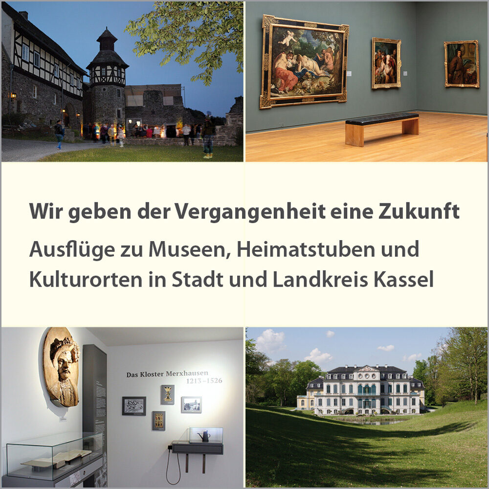 Museen, Heimatstuben und Kulturorte in Stadt und Landkreis Kassel (Karte)