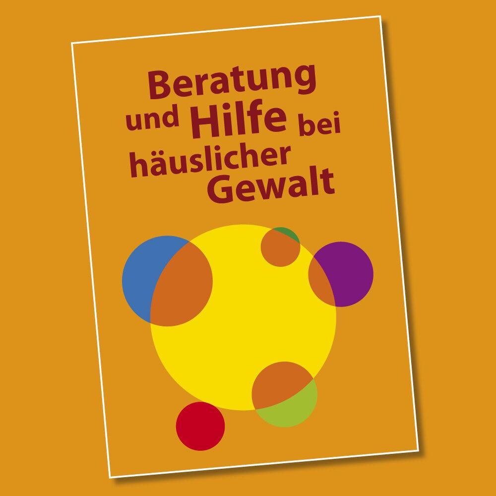 Runder Tisch gegen häusliche Gewalt Region Kassel (Logo, Karten, Flyer, Broschüre)